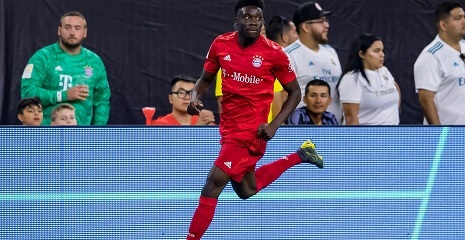 Bayerns Alphonso Davies im Spiel gegen Real Madrid beim International Champions Cup in den USA. Houston, Juli 2019