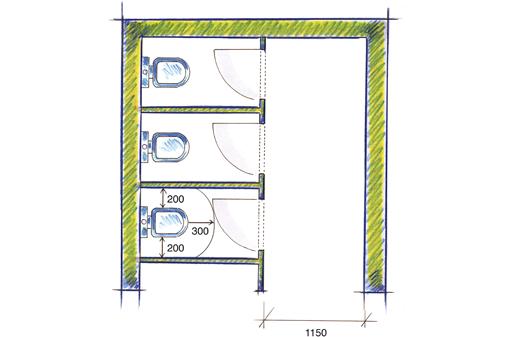 vbg 3 8 toilettenr ume. Black Bedroom Furniture Sets. Home Design Ideas