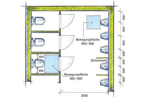 Gut bekannt VBG - 3.8 Toilettenräume LV18
