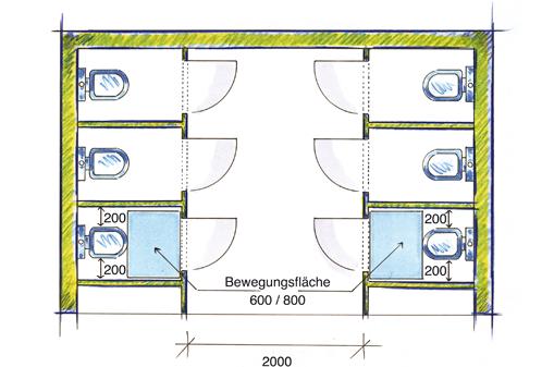 Vbg 38 Toilettenräume