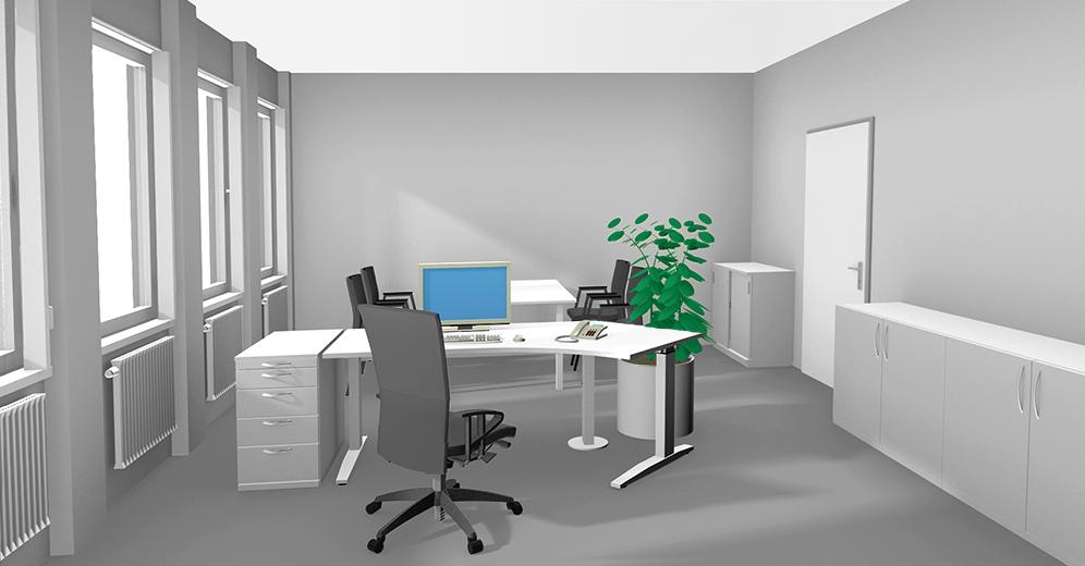 Farbgestaltung In Büroräumen Spielen Sie Mit Farbe